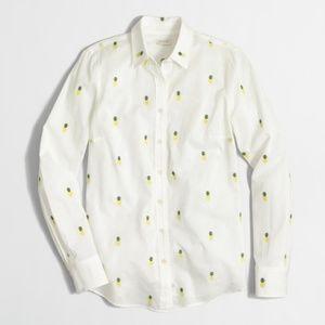 J. Crew Pineapple Print Button Down XXS